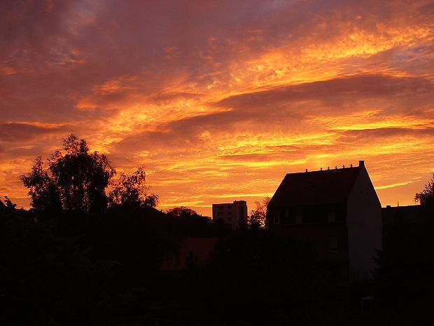Sonnenuntergang über Germersheim