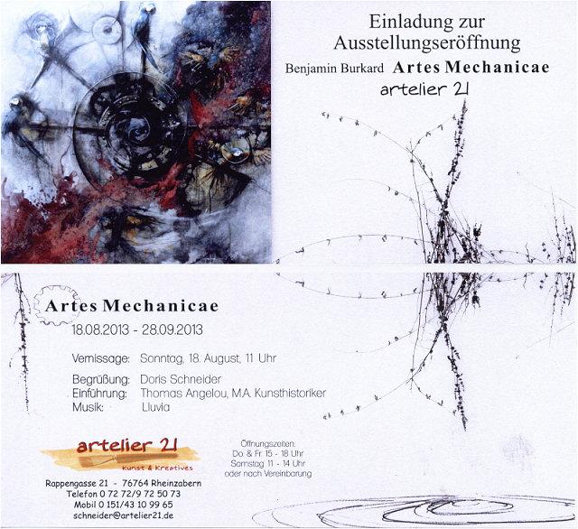 Ausstellung im artelier21 - Benjamin Burkard