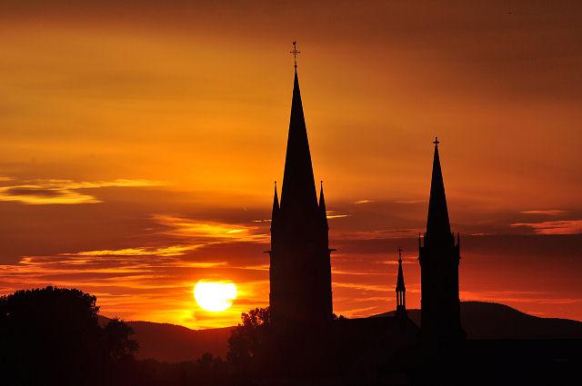 Sonnenuntergang in der Südpfalz