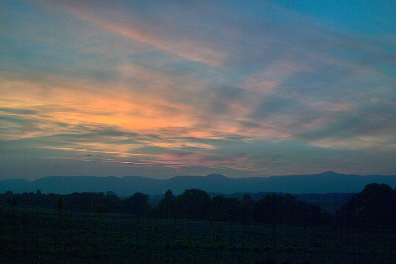 Sonnenuntergang über dem Pfälzer Wald